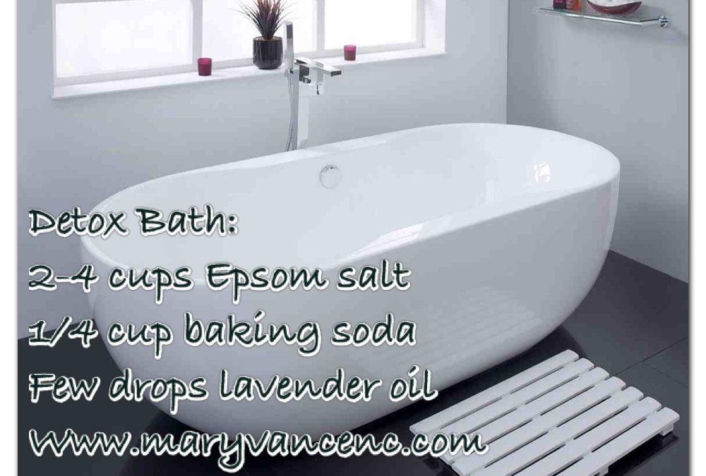 Five Steps to Detox Bathing Bliss