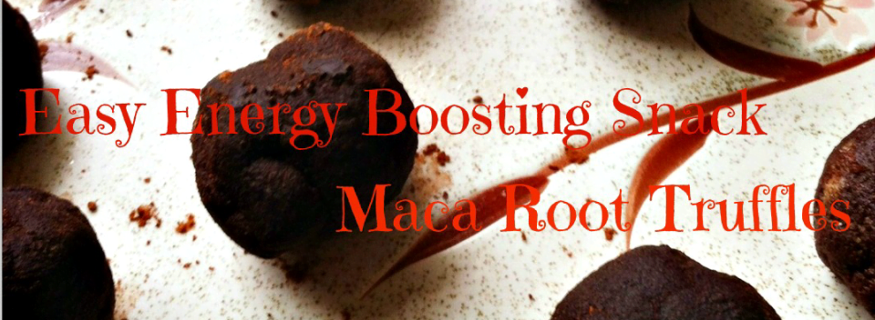 Power Snack: Raw Maca Truffles