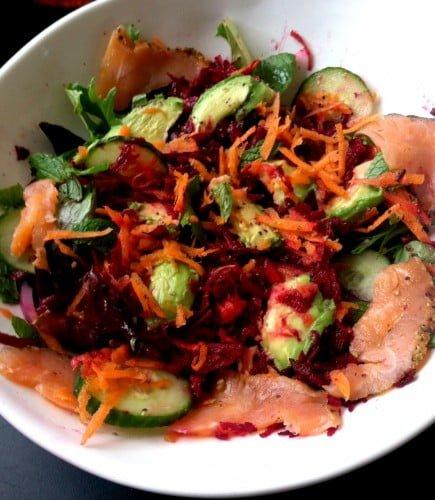 wild lox salad. Yum.