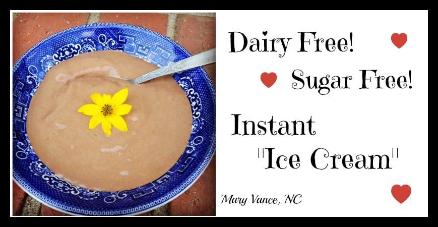 """Instant """"Ice Cream"""" (Paleo, Vegan, No Ice Cream Maker Needed!)"""