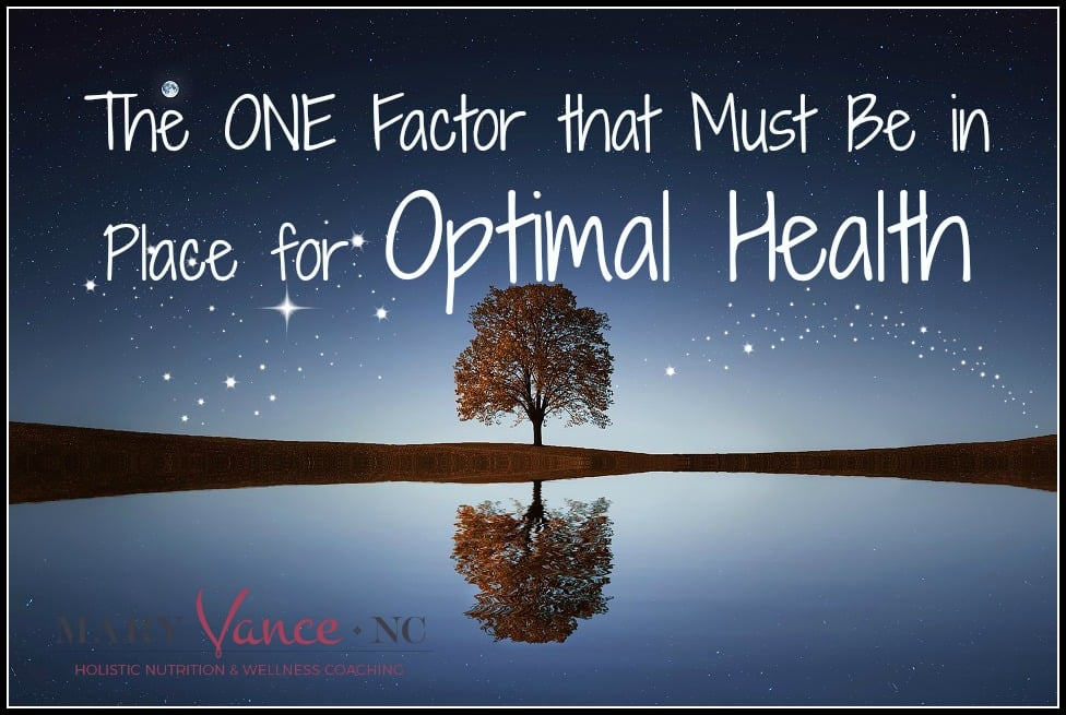 The One Factor That MUST be in Place for Optimal Health