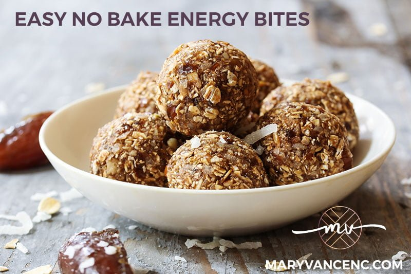 Vegan, No Bake Nut Butter Energy Bites (Gluten Free)